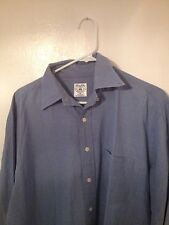 Brooks Brothers Mens Sport Shirt M Medium Long Sleeve Blue