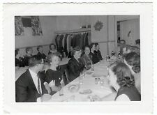 Vintage Original Photo of Many Women and Some Men at Luncheon 40's? 50'S