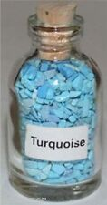 Turquoise Gemstone Chip Healing Reiki Wicca New Bottle 34 Bottles