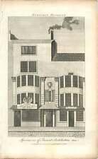 1790 Guy Fawkes House Barrow Biscotto Maker vecchia incisione