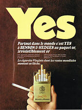 PUBLICITE ADVERTISING  1968   BENSON & HEDGES   cigarettes YES