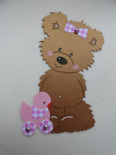 Scrapbooking~Card making~ Die Cut~Embellishment~Teddy ~  Baby Girl with Duck