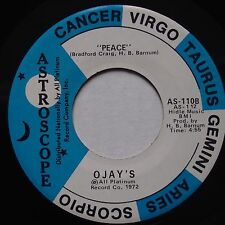 O'Jays: Peace / Don't You Know ASTROSCOPE ORIG soul 45 VG++ RARE w/ STRIP