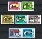 Avions Mongolie (15) série complète de 7 timbres oblitérés