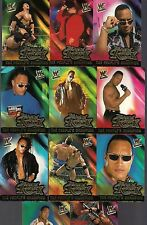 WWF WRESTLE MANIA FLEER '01 THE ROCK PEOPLE'S CHAMPION (11) FOIL CHASE CARD LOT