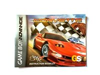 Corvette Nintendo Game Boy Advance Instruction Manual Booklet ONLY