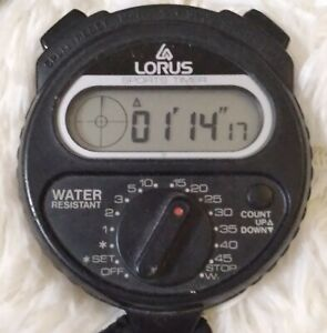 Vintage LORUS W903-4000 Timekeeper Stopwatch Now Before Seiko acquired Lorus
