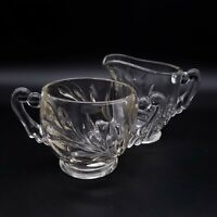 INDIANA GLASS Willow Clear Open Sugar and Creamer Set of 2