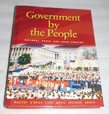 Government By People National State Local Magleby 2006 21st Edition High School