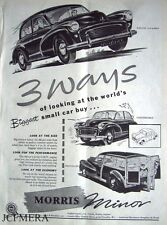 Morris Minor 1000 'Split Screen' 1955 Car ADVERT - Original Magazine Print AD