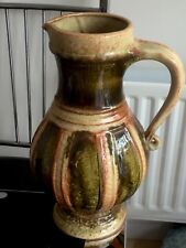 Vintage West German Ceramics Pottery Jug Multi Colour Impressive 12 Inches Tall
