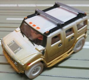 For H0 Slotcar Racing Model Railway Hummer H2 With Xtraction Chassis Boxed