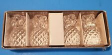 Williams Sonoma Glass Pineapple Tiny Tapers Candle Holders Set of 4 NIB!