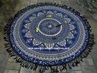 Indian Roundie Round Ombre Mandala Tapestry Beach Throw Yoga Mat Bohemian Rug