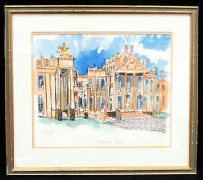 "Bill Olendorf ""Blenheim Palace"" 1979 Signed Lithograph LE #5/300 Framed 16x19"""