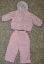 GUC-Toddler Girls Gymboree Pink 2 Pc Winter Jacket & Pants Snowsuit- 12-18 mths