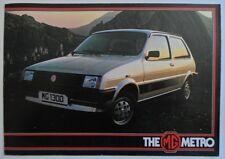 MG METRO orig 1982 UK Mkt Sales Brochure - Austin Mini - Ref 3582