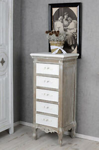 Dresser Shabby Chic Chest of Drawers Wardrobe Bedside Table Vintage High Chest