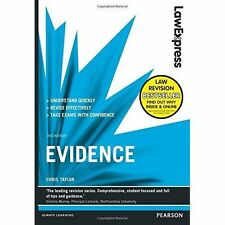 Law Express: Evidence, Good Condition Book, Taylor, Chris, ISBN 9781292012940