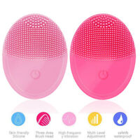 Silicone Mini Electric Face Cleansing Brush Facial Skin Deep Cleaning Massager