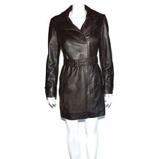 BOD & CHRISTENSEN Black Soft Leather Pea Coat Jacket Women's Small - S