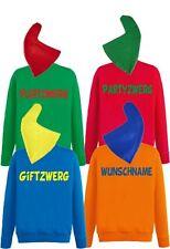 Zwergenkostüm Gruppenkostüm Sweatshirt Mütze Paarkostüm Karneval Kostüm Fasching