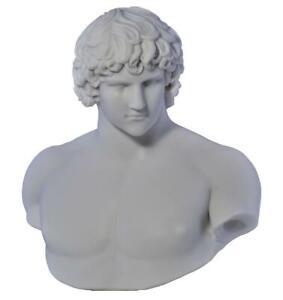 Antinous Emperor Hadrians Lover Bust Greek Statue Sculpture Cast Marble Copy