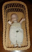 Vintage Bisque & Cloth Body Baby Doll~Musical~ Body Moves When Music Plays!