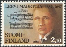 Finland 1987 Leevi Madetoja/Composers/Music/Musicians/Musical Score 1v (n19580x)