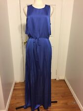 NWT A|X Armani Exchange Blue Silky Maxi Dress Size 14 MSRP $170