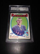 Ed Giacomin Signed 1971-72 O-Pee-Chee OPC Rangers Card PSA Slabbed #83851170