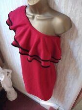 Miss Selfridge Red Tarzan Top Body Con Mini Dress Size 10