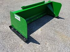 6' Low Pro John Deere snow pusher 200-500 series JD loader FREE SHIPPING