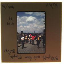 Vtg 35MM Slide Art Show Brooklyn Heights NYC NY People Bridge Skyline Walk 1973