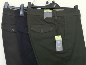 Mens M&S Sizes 34 36 40 Slim Fit Trousers with Stretch Free Postage RRP £35