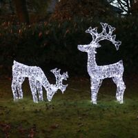LED Outdoor Acrylic Reindeer Christmas Decoration | Micro Wire Indoor Garden