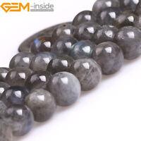 "Natural Gemstone Rainbow Labradorite Round Beads For Jewellery Making 15"" UK"