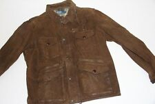 Polo Ralph Lauren Brown Suede Leather  Jacket XLarge XL