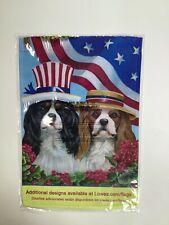 """Rain Or Shine American Flag/ Dogs Flag 12.5"""" x 18"""" New! Nib"""