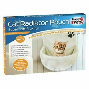 CAT KITTY RADIATOR BED WARM FAUX FUR COSY BEDS BASKET CRADLE WASHABLE POUCH