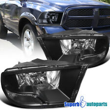 For 2009-2018 Dodge Ram 1500 2500 3500 Headlight Head Lamps Black