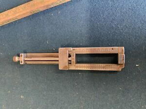 """Ludlow Composing Stick 1"""" Diameter  Printing Hot Lead 10.5"""" long Total 4"""" Capac"""