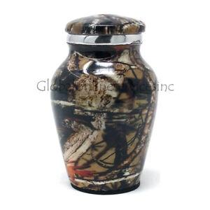 Cremation urn Small Aluminium Camouflage