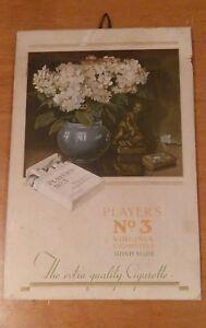 Original Irish PLAYERS No3 TOBACCO showcard advertising display card for hanging