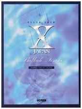X JAPAN Ballade Songs PIANO SOLO Music Score [JAPAN]