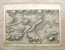 Plan de la plaine d'Athènes fin XVIIIème, Littret de Montigny d'après Le Roy