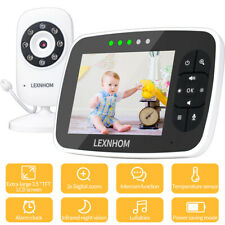 Baby Pet Monitor Night Vision Video Audio Wireless 2-Way Talk Temperature Webcam