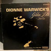 "DIONNE WARWICK - Golden Hits Part One - 12"" Vinyl Record LP - VG (Cheesecake)"