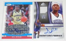 2005-10 Sage Will Bynum & Upper Deck SP Donte Green Auto & Jersey 2-Card Lot NM
