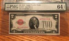 1928 $2 legal tender note PMG 64 EPQ  , scarce  #2